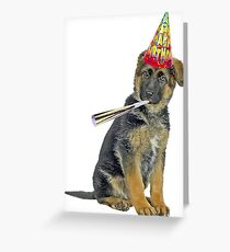 German Shepherd Birthday Greeting Card