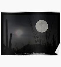"Super ""Desert"" Moon in Southern Arizona Poster"