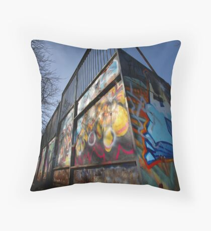 Skate Ramp - Newbury Throw Pillow