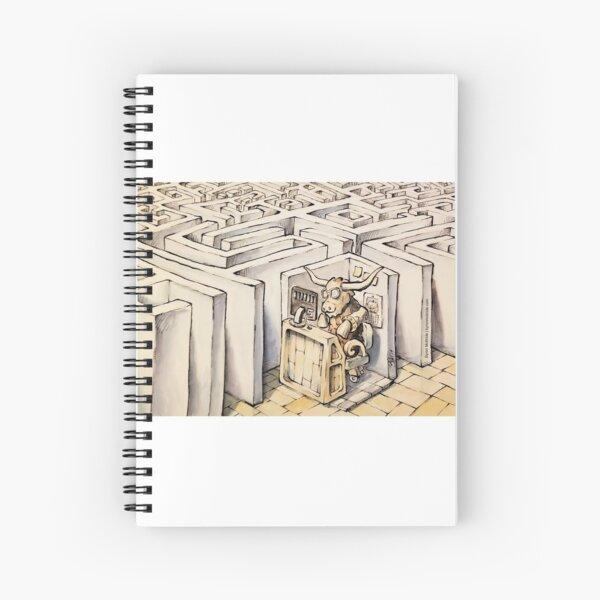 Minotaur at the Office Spiral Notebook