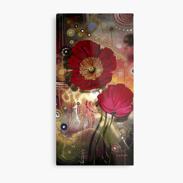 Red Poppies - Finding Beauty in Chaos Series Metal Print
