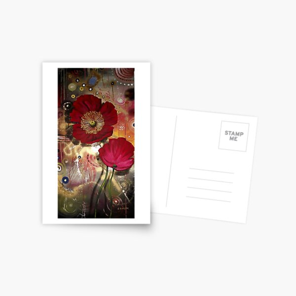 Red Poppies - Finding Beauty in Chaos Series Postcard