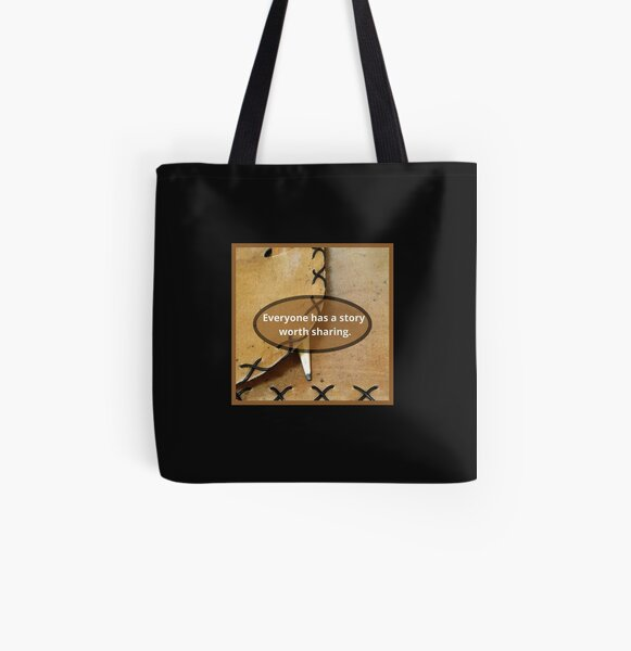Everyone Has A Story Worth Sharing All Over Print Tote Bag