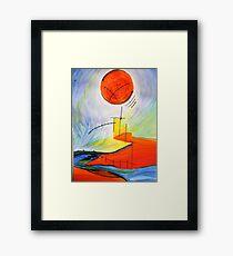 Abstract Landscape Composition Framed Print