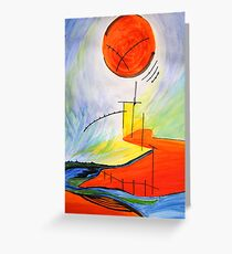 Abstract Landscape Composition Greeting Card