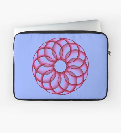 Spirograph with red Laptop Sleeve