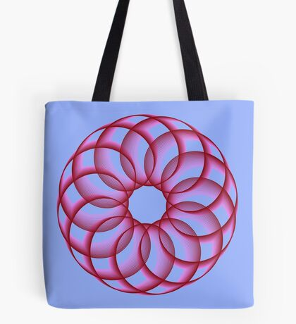 Spirograph with red Tote Bag