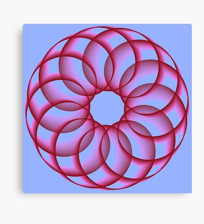 Spirograph with red Canvas Print