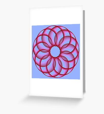 Spirograph with red Greeting Card
