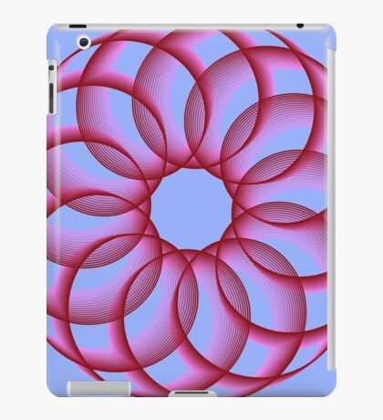 Spirograph with red iPad Case/Skin