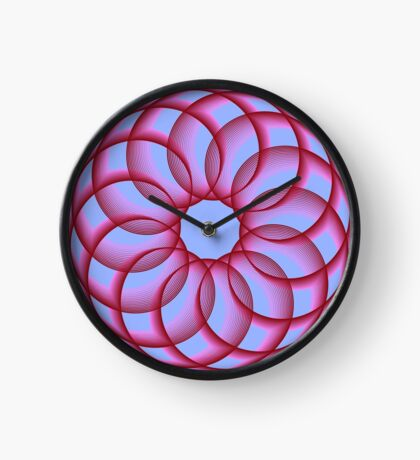 Spirograph with red Clock