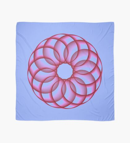 Spirograph with red Scarf