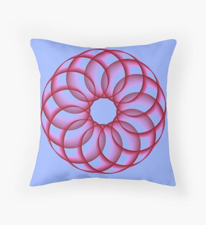 Spirograph with red Floor Pillow