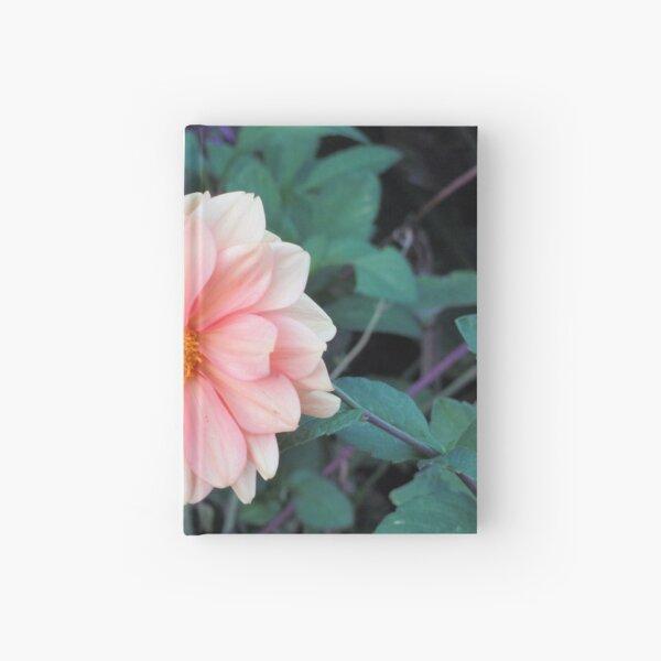 Blooming Blush Pink Dahlia Hardcover Journal