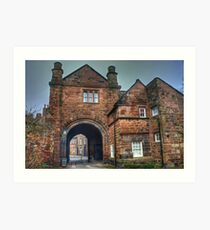Carlisle Cathedral Gatehouse Art Print