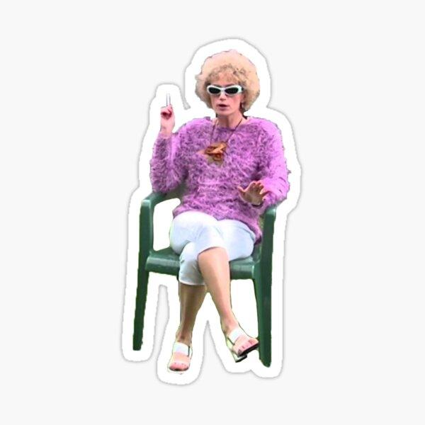 Kath Day Knight having a smoke Sticker