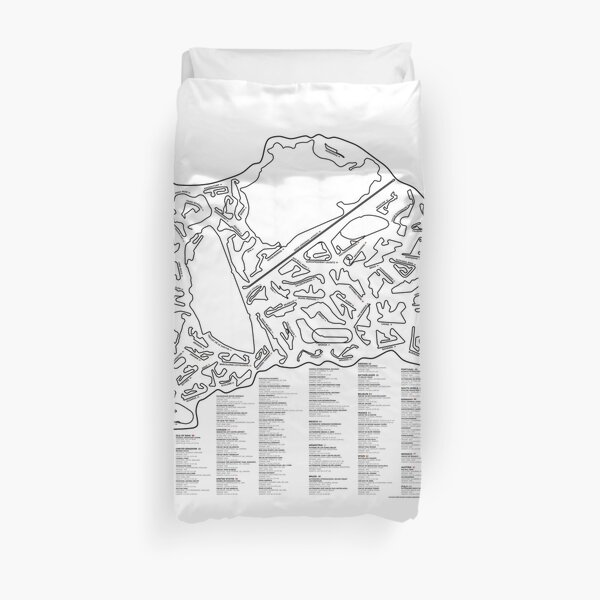 Race Tracks to Scale - Listed and Labelled Duvet Cover