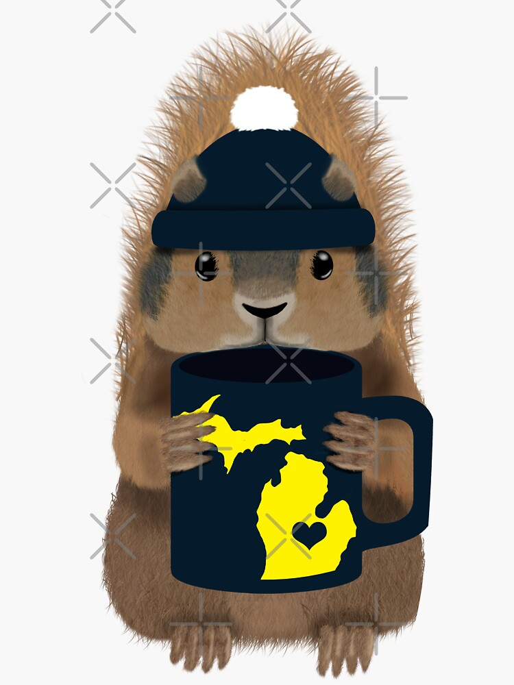 Squirrel with Ann Arbor Mug by KobiusDesigns