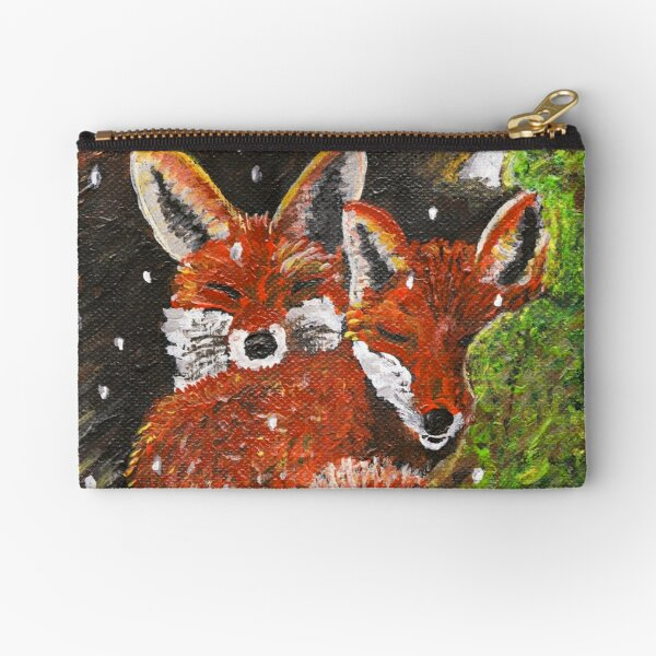 Little Foxes Napping Zipper Pouch