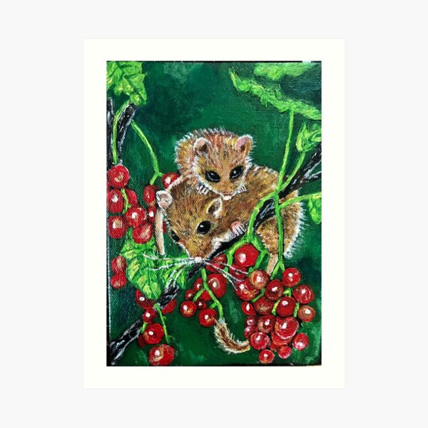 Harvest Mice  Art Print