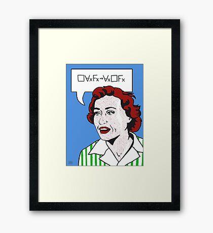 Converse Barcan Framed Print