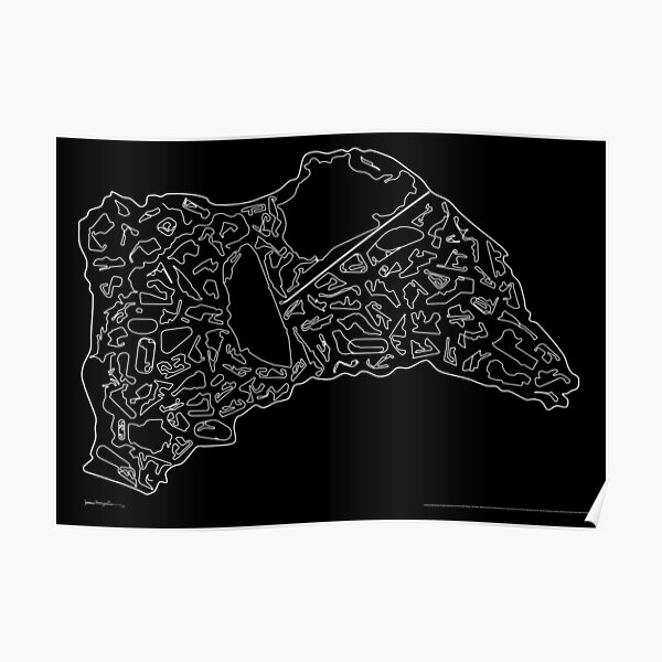 Race Tracks to Scale - Plain Layouts (Inverted) Poster