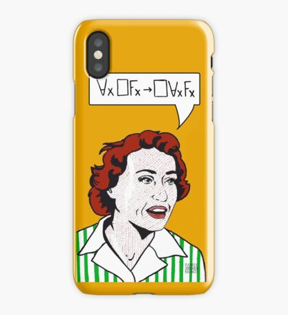 Ruth Barcan Marcus iPhone Case