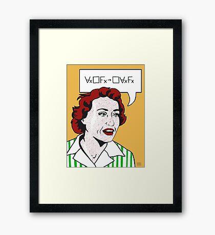 Ruth Barcan Marcus Framed Print