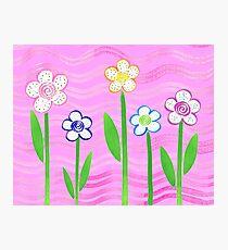 Freckled Floral Garden Photographic Print
