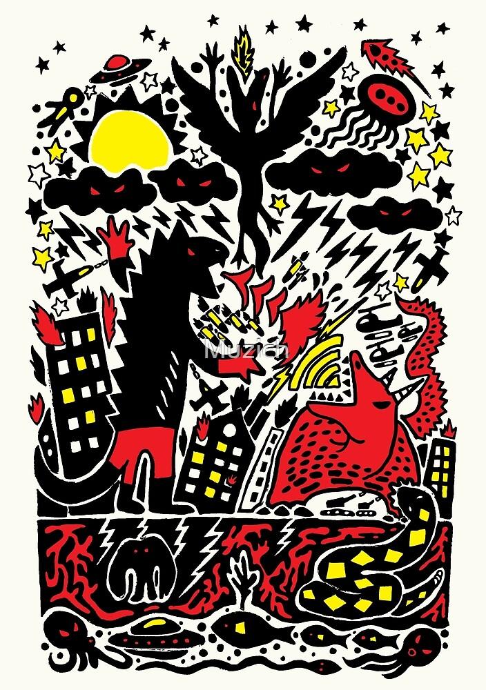 Red Black Yellow by Muzich