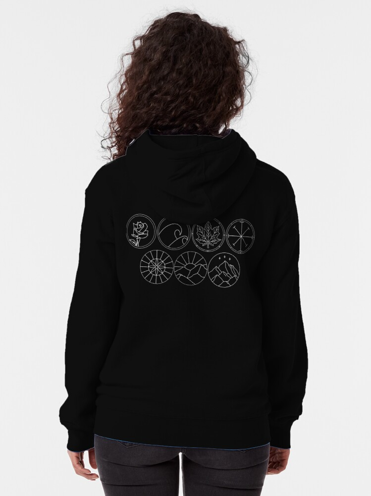 Alternate view of Prythian Courts Zipped Hoodie