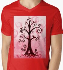 Whimsical Tree With Cat And Bird T-Shirt