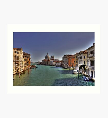 Canal Grande - View from Accademia Bridge - Venice Art Print
