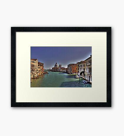 Canal Grande - View from Accademia Bridge - Venice Framed Print