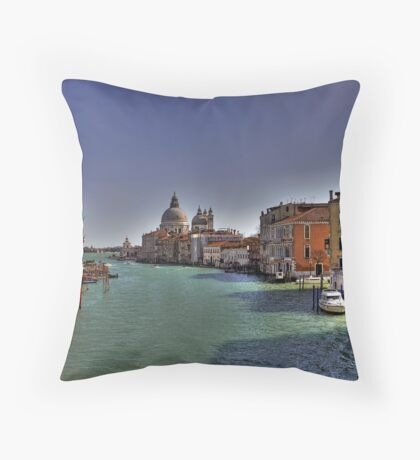 Canal Grande - View from Accademia Bridge - Venice Throw Pillow