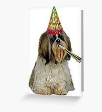 Shih Tzu Birthday Greeting Card