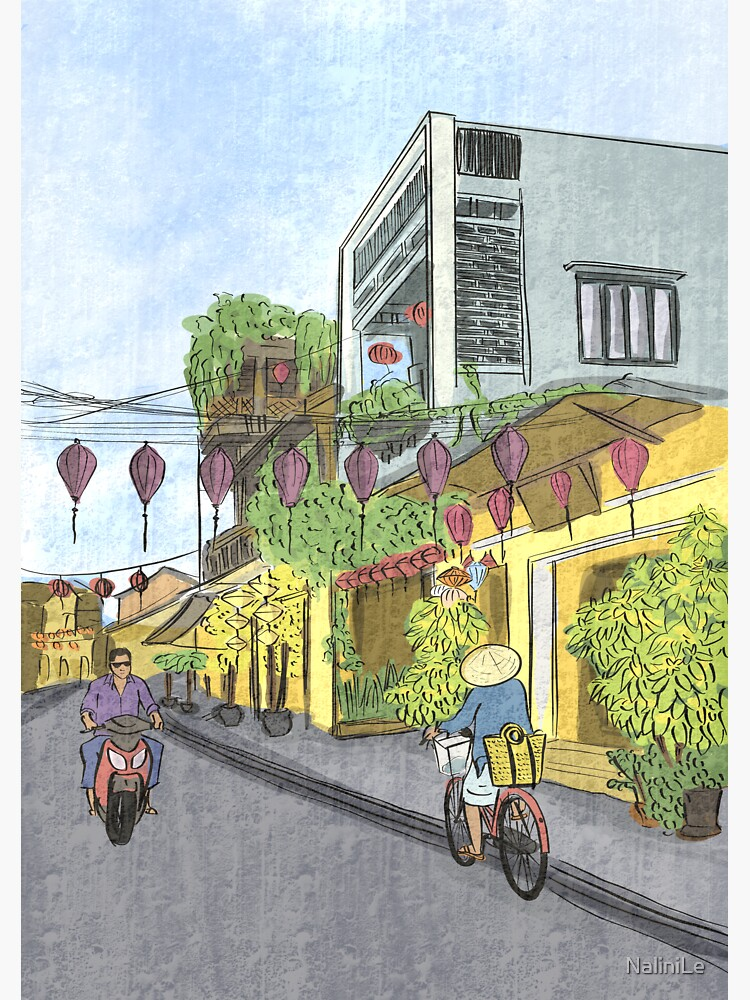 Hoi An street illustration by NaliniLe