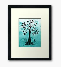Whimsical Tree With Birds Framed Print