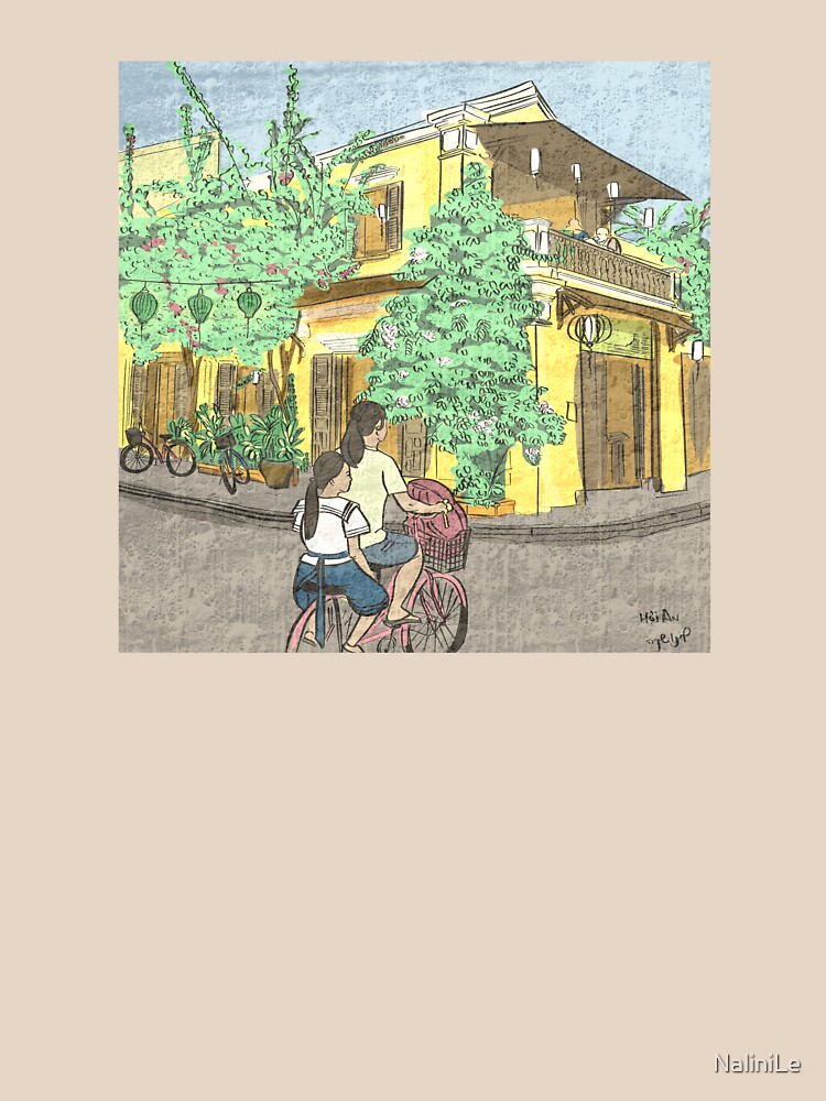Hoi An street scene illustration by NaliniLe