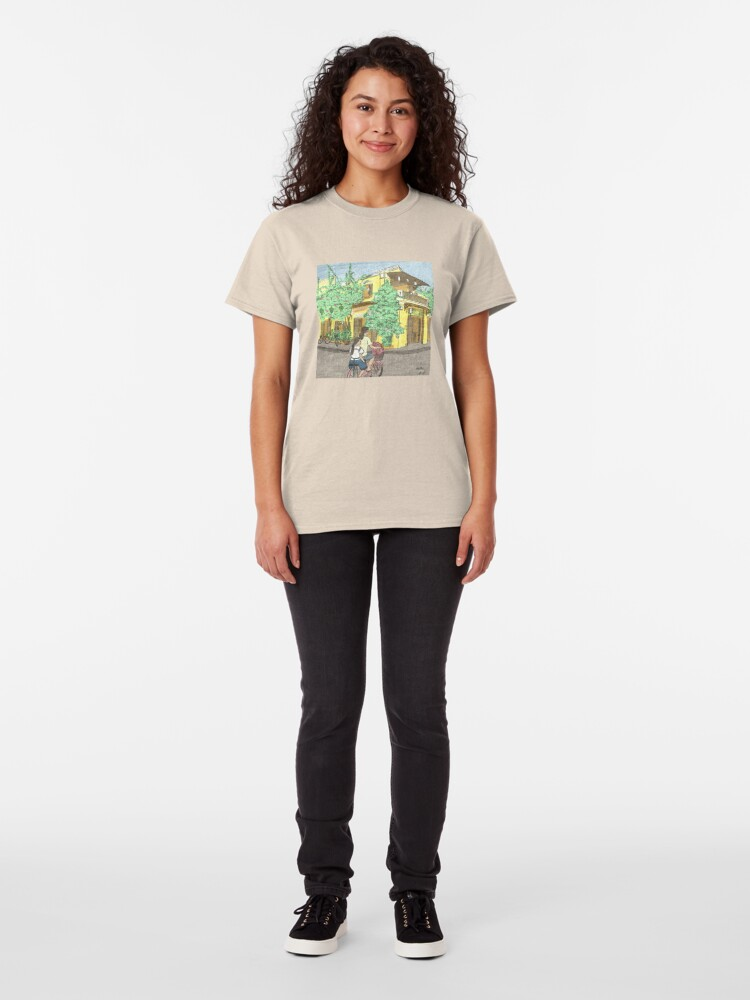 Alternate view of Hoi An street scene illustration Classic T-Shirt