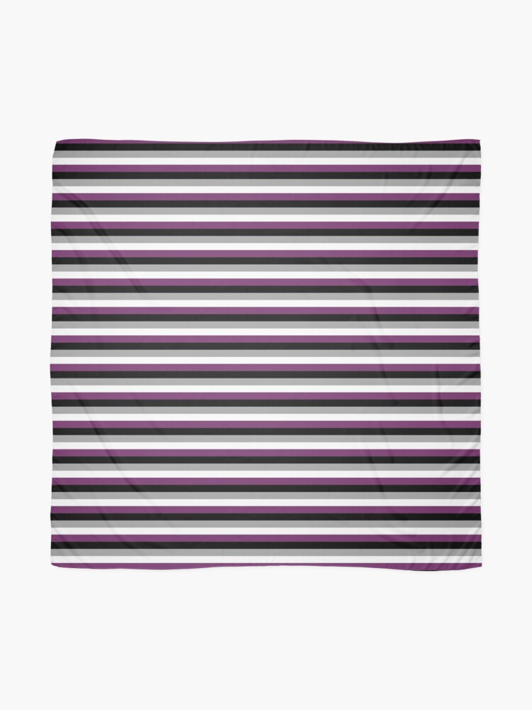 Alternate view of Asexual Flag Scarf