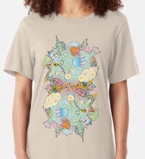 Puffer Puffing On A Water Pipe Slim Fit T-Shirt