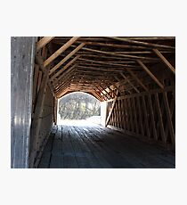 Inside Covered Bridge Photographic Print