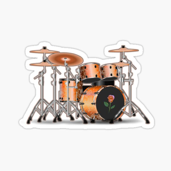 Drum Set Dream Sticker