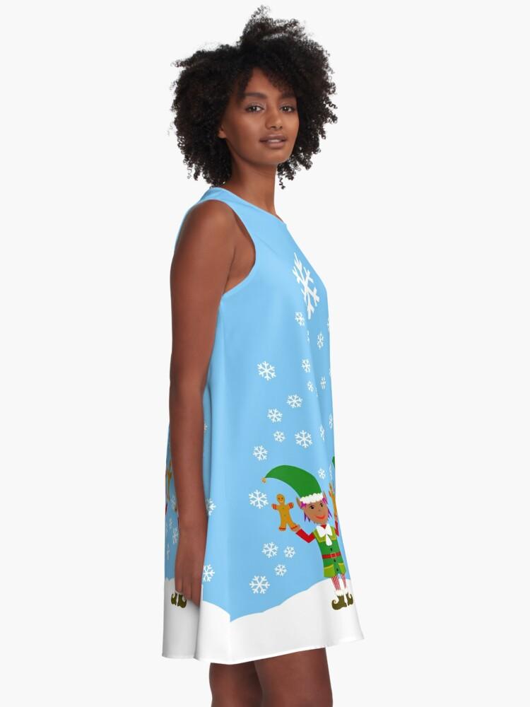 Alternate view of ELFIE - Womens A-Line Dress A-Line Dress A-Line Dress