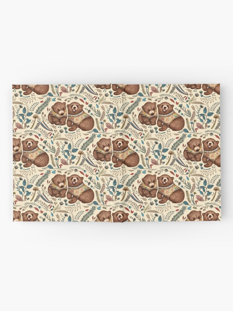 Alternate view of Whimsical Bear Pair with Fantasy Flora  Hardcover Journal