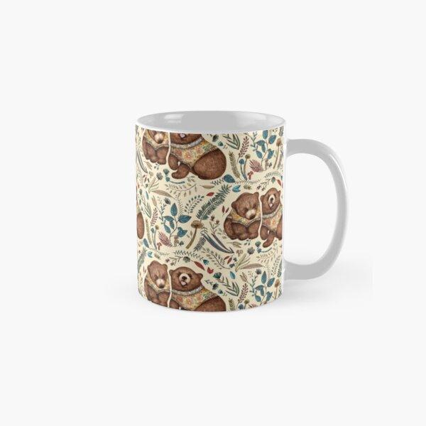 Whimsical Bear Pair with Fantasy Flora  Classic Mug