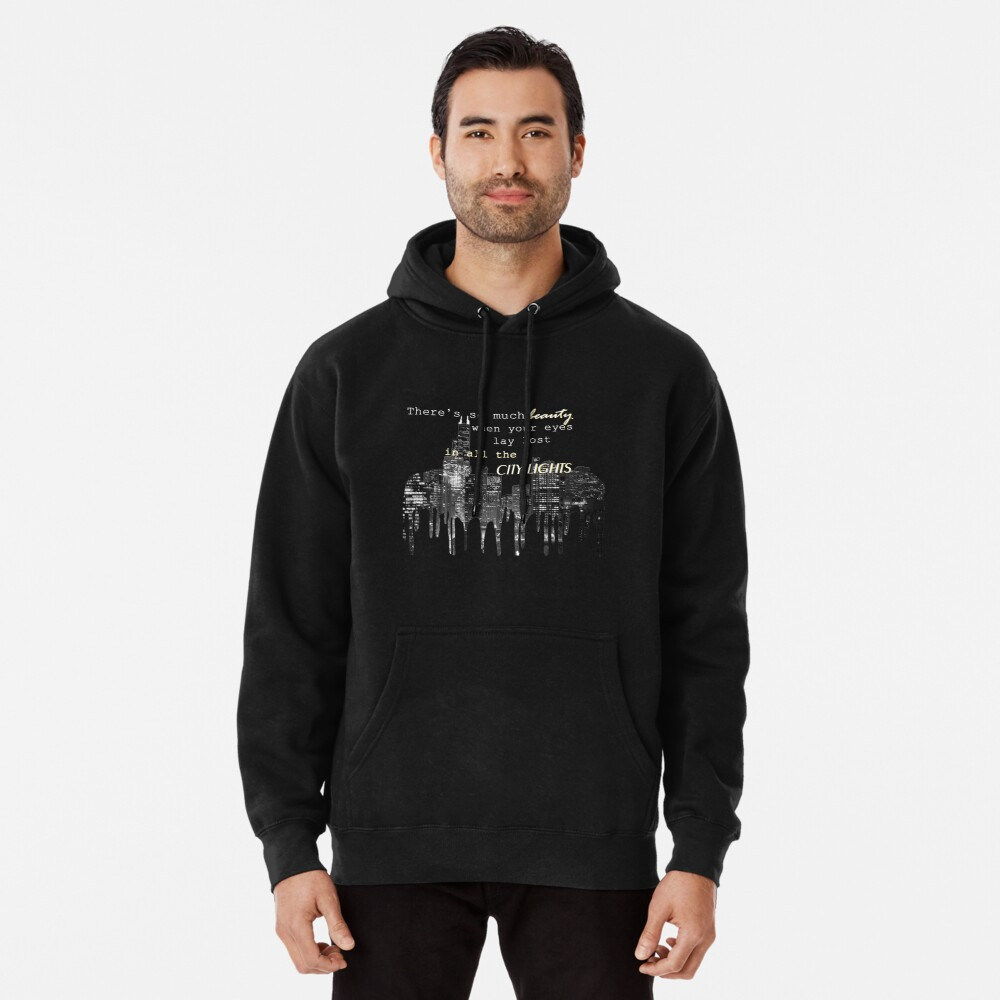 city lights 2 Pullover Hoodie Front