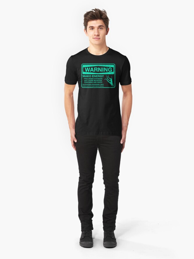 Alternate view of Warning: Mako Energy Slim Fit T-Shirt