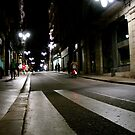 Night cyclist at Barcelona by contradirony